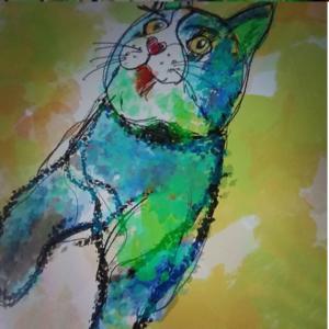 10.2インチiPadとApple Pencilでつぶらな瞳の可愛い猫を描いてみた!その3