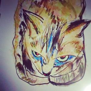 革命前夜の猫の雄姿をiPadとApple Pencilで描いてみた!