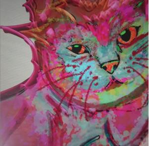 デジタルアート日記1 リアルで生き生きとした気品のある猫をapple pencil 1で描いてみたら・・・エイリアンの様な顔になった