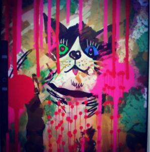 デジタルアート日記5 iPadを活用した現代芸術|失業して絶望した憂鬱な表情の猫の絵を描いてみた!