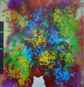 デジタルアート日記6|iPadとApple pencilを活用した現代アート|失業して絶望した孤独な猫の背中