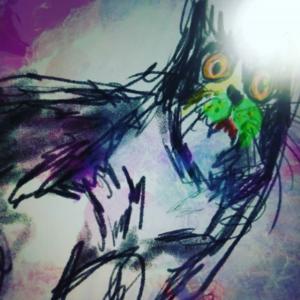 デジタルアート日記8|iPadとApple pencilを利用した現代アート制作|貧困にあえぐ猫