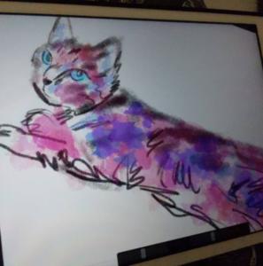 デジタルアート日記10|iPadとApple pencilを利用した現代アート制作|セクシーな猫はお嫌いですか?