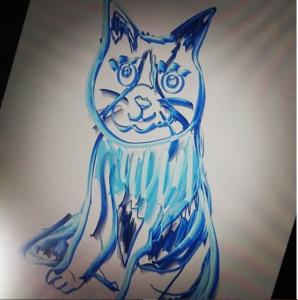 10.2インチiPadとApple Pencilでつぶらな瞳の可愛い猫を描いてみた!その2