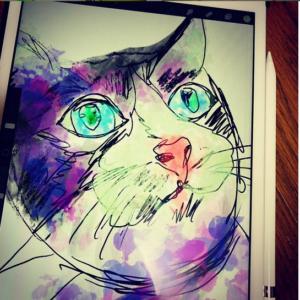2021年が明るい年であることを願って今日も猫の絵を描くニャァ デジタルアートブログ